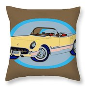 Pin Up Vette Throw Pillow