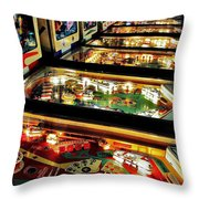 Pinball Arcade Throw Pillow by Benjamin Yeager