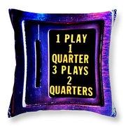 Pinball Pricing Throw Pillow