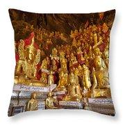 Pindaya Cave With More Than 8000 Buddha Statues Myanmar Throw Pillow