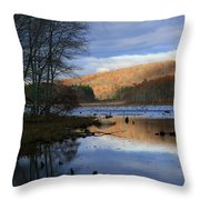 Pine Acres Lake Reflections  Throw Pillow