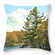 Pine By The Water Throw Pillow