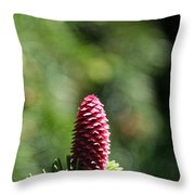 Pine Candle Throw Pillow
