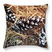 Pine Combs Throw Pillow