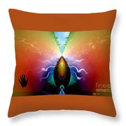 Pine Cone Dreams Throw Pillow by Peter R Nicholls