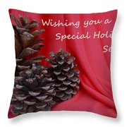 Pine Cones For The Holidays Throw Pillow