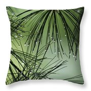 Pine Droplets Throw Pillow