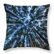 Pine Explosion Throw Pillow