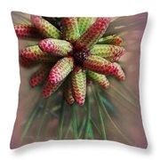 Pine Flower Bouquet Throw Pillow