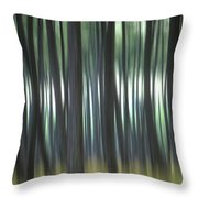 Pine Forest. Blurred Throw Pillow