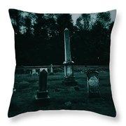 Pine Hill Cemetery Throw Pillow