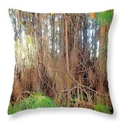 Pine Jungle Throw Pillow