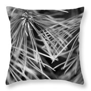 Pine Needle Abstract Throw Pillow