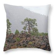 Pine On Lava Throw Pillow