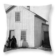 Pine Ridge Agency, C1891 Throw Pillow