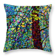 Pine Sprites Throw Pillow