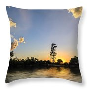 Pine Tree At Sunset Throw Pillow