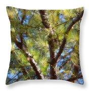 Pine Tree Glow 2014 Throw Pillow