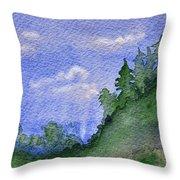 Pine Tree Hill  Throw Pillow