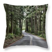 Pine Trees Throw Pillow by Jeff Swanson