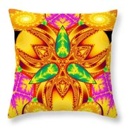 Pineal Flux Throw Pillow by Derek Gedney