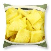 Pineapple Chunks Throw Pillow