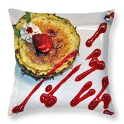 Pineapple Creme Brulee Maui Style Throw Pillow