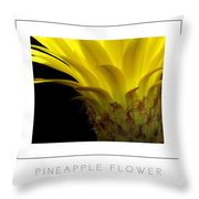 Pineapple Flower Poster Throw Pillow