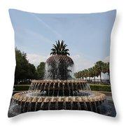 Pineapple Fountain Charleston Throw Pillow