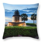 Pineapple Fountain Charleston South Carolina Sc Throw Pillow