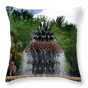 Pineapple Fountain Throw Pillow