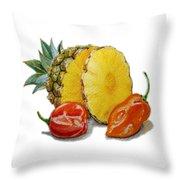 Pineapple Habanero Muy Caliente   Throw Pillow