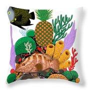 Pineapple Reef Throw Pillow