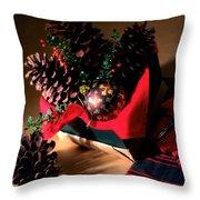 Pinecones Christmasbox Throw Pillow