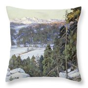 Pines In Winter Throw Pillow by George Gardner Symons
