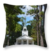 Piney Grove Church Throw Pillow