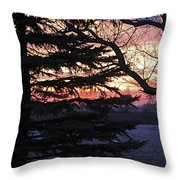 Piney Sunset Throw Pillow