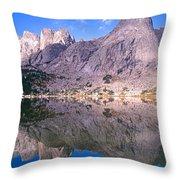 Pingora Peak On Lonesome Lake Throw Pillow