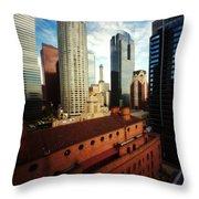 Pinhole Los Angeles Cityscape Throw Pillow