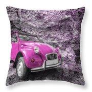 Pink 2cv  Throw Pillow