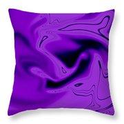 Pink Abstract Art Throw Pillow