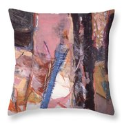 Pink And Black Throw Pillow