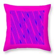 Pink And Blue Abstract Throw Pillow