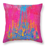 Pink And Blue Chandelier Throw Pillow
