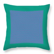 Pink And Blue Chevron Throw Pillow