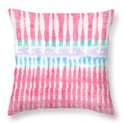 Pink And Blue Tie Dye Throw Pillow
