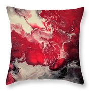 Pink And Purple Fluid Painting Throw Pillow