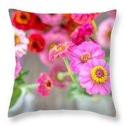 Pink And Red Throw Pillow