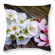 Pink And White 2 Throw Pillow
