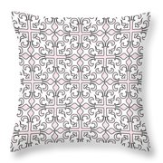 Pink And White Interlude Throw Pillow